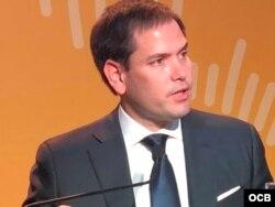 Senador Marco Rubio en la Cumbre de las Américas en Lima, Perú.