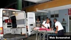 Turistas franceses ingresados en el Hospital Provincial de Cienfuegos, Cuba.