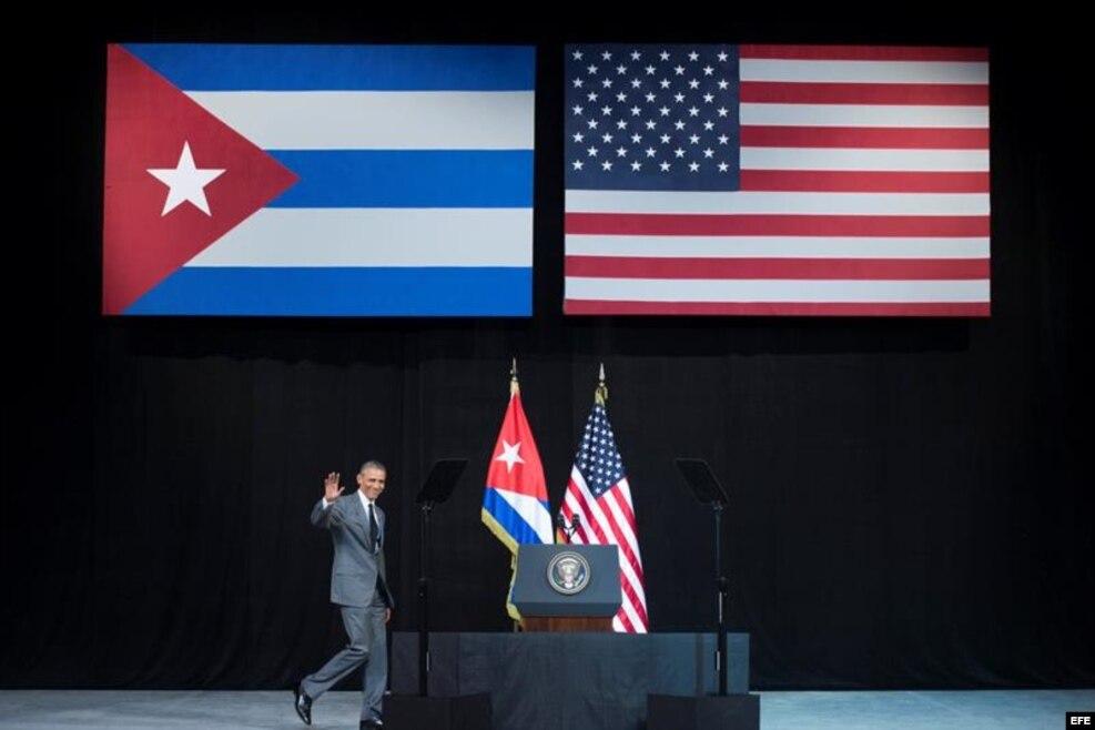 El presidente de EEUU, Barack Obama, pronunció un discurso en el Gran Teatro Alicia Alonso de La Habana, Cuba, el 22 de marzo del 2016.