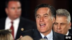 Mitt Romney, durante su intervención ayer