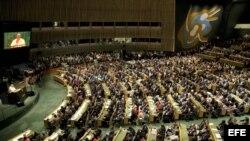 Vista General de la Asamblea General durante discurso del papa Francisco.