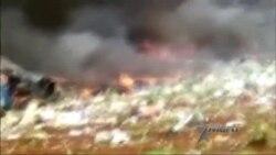 Imágenes recién llegadas a nuestra redacción del accidente aéreo en Cuba
