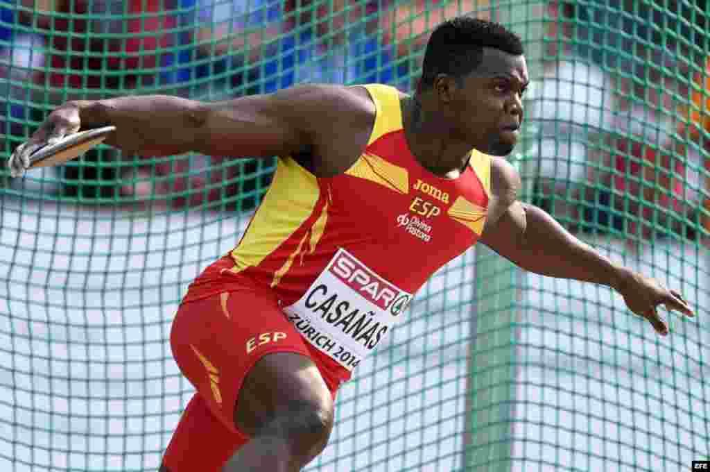 El discóbolo cubano Frank Casañas, representa a España en los Juegos Olímpicos de Río de Janeiro.
