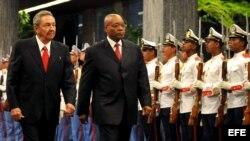El presidente sudafricano, Jacob Zuma, estuvo en La Habana en diciembre de 1010.