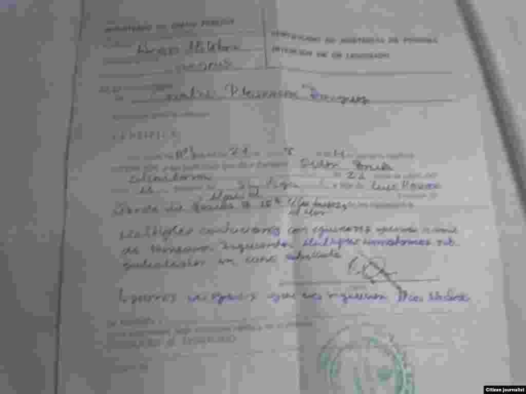 Certificado Médico emitido a Ridel Brea.