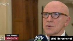 El abogado belga Paul Bekaert.
