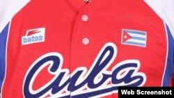 El uniforme del equipo Cuba para la competencia WBSC Premier 12.