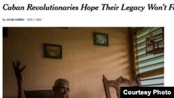 """Artículo del diario """"The New York Times"""" sobre la herencia de los """"revolucionarios cubanos""""."""