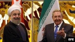 El presidente iraní Hasan Rohani visitó Cuba en septiembre de 2016.