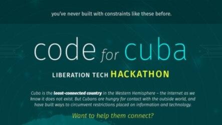 Hackathon for Cuba. Póster.
