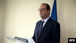 El presidente francés Francois Hollande, durante una rueda de prensa en la sede de la ONU en Nueva York.