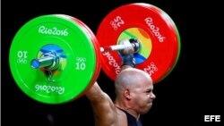 El pesista cubano-mexicano Bredni Roque compitió en los Juegos Olímpicos de Río de Janeiro.