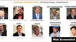 """Comisión Internacional de """"Justice Cuba""""."""