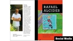 """El escritor cubano Rafael Alcides y la portada de su libro """"Conversaciones con Dios""""."""