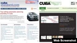 Los portales Cuba Standard y Cuba News