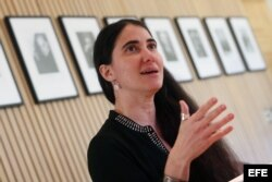 La bloguera y directora de 14yMedio Yoani Sánchez.