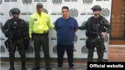 """Agentes de la DIJIN colombiana custodian al narcotraficante de origen cubano José Santisteban, alias """"El Gordo"""""""