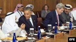 Barack Obama recibe en Camp David a dirigentes del Golfo Pérsico.