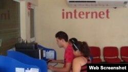 Internet en Cuba.