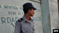 Foto de archivo de un policía cubano (PNR).