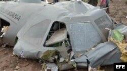Avión de transporte de la Fuerza Aérea de Colombia accidente en el noreste del país