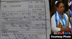 Dama de Blanco Aimara Nieto ha sido detenida y multada en varias ocasiones.