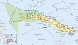 Mapa de las reservas petroleras de Cuba confeccionado por el Servicio Geológico de EEUU.