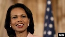 Fotografía de archivo de Condoleezza Rice.