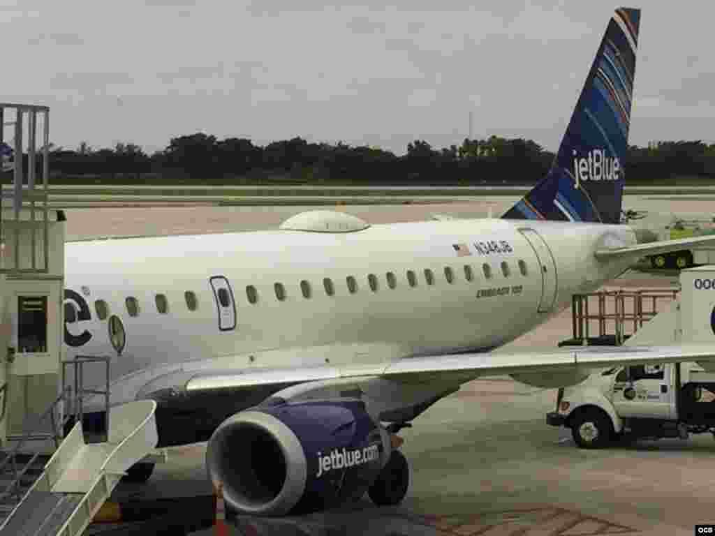Primer vuelo de JetBlue a Cuba