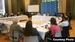 """Sesión del seminario """"Covering Cuba in times of change"""", Universidad de Columbia (M.Celaya)"""