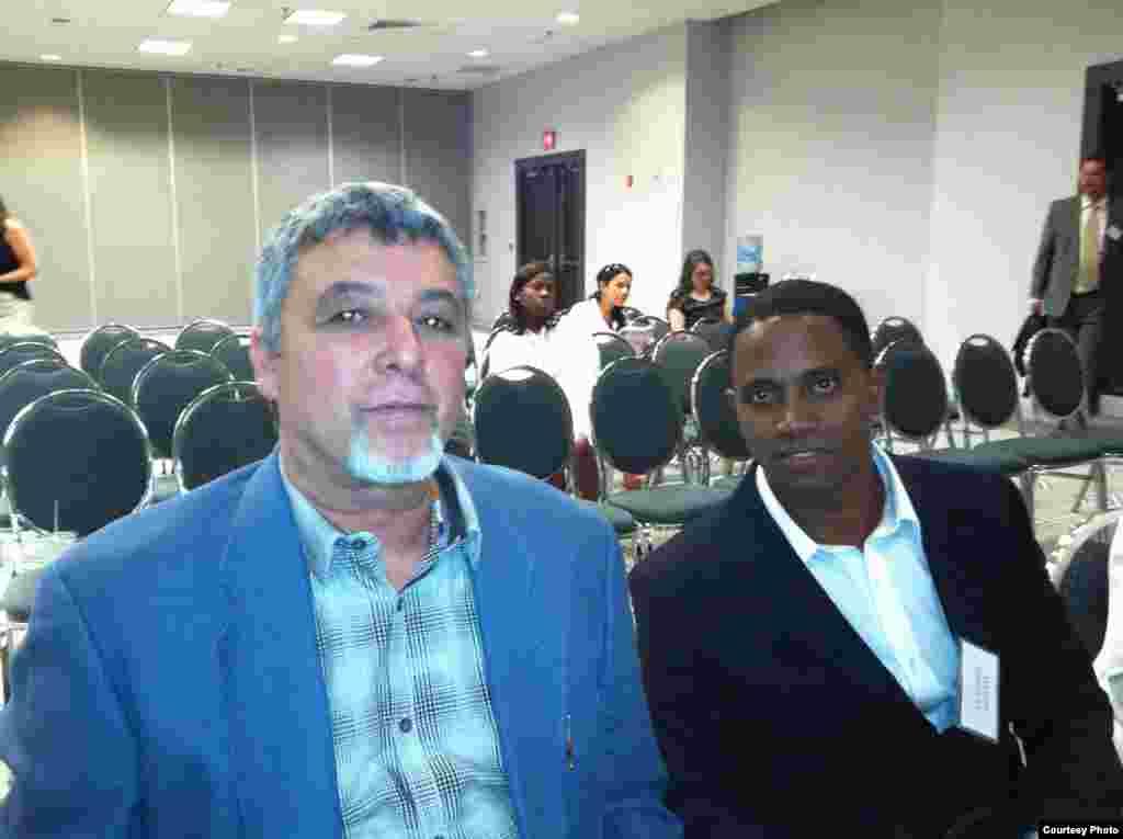 Armando de Armas (i) y Veizant Boloy (d) en la sesión de trabajo de ASCE