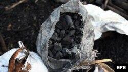 El carbón vegetal, como producto terminado por campesinos en un paraje de La Habana.
