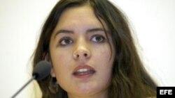 Fotografía de archivo de la líder estudiantil chilena Camila Vallejo. EFE/Stephanie Pilick