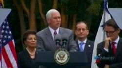 Pence: EEUU no impulsará al monopolio militar que explota a los cubanos