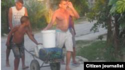 Reporta Cuba. Escasez de agua en Guantánamo. Foto: Niover García.