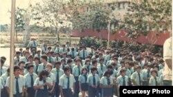 Estudiantes nicaraguenses en Isla de la Juventud.