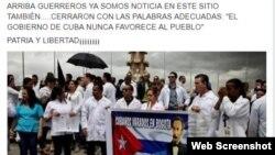 """Perfil de Facebook fue creado por médicos cubanos bajo el lema """"No somos desertores, somos cubanos libres"""". (Archivo)"""