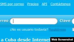 Sitio digital desde donde Viso Bello envía sms a Cuba y recibe sms desde Cuba