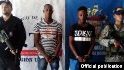 Ibargüen Palacios y Carreazo Asprilla fueron arrestados en Colombia acusados del asesinato en 2016 de dos inmigrantes cubanos en su camino a Estados Unidos,