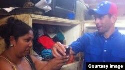 Henrique Capriles con Scarlet Guipe