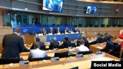 Reunión del Comité ejecutivo de la Internacional Demócrata en Bruselas. Tomado de @idc_cdi