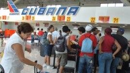 Vuelos internacionales en el aeropuerto José Martí