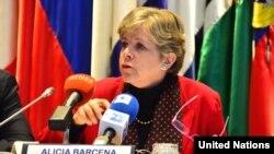 Alicia Bárcena, secretaria general de la CEPAL.
