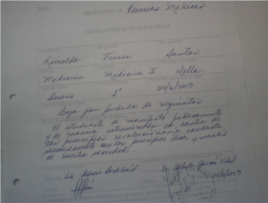 Baja aprobada por Alberto García Vidal, Decano de la Facultad de Medicina II de Santiago de Cuba.