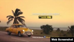 Imagen de la campaña promocional de Western Union en Cuba.
