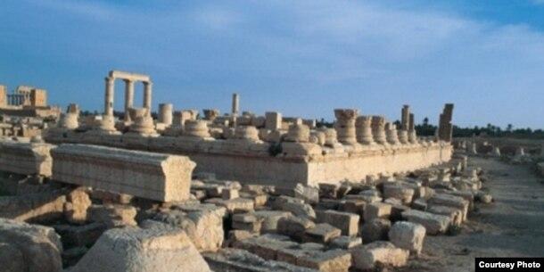 El templo de Nabu, en la ciudad arqueológica de Nimrud, en el norte de Irak, antes de ser volado por los aires.