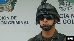 Fotografía de archivo de un policía colombiano.