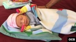 Bebé nacida en Nuevo Laredo.
