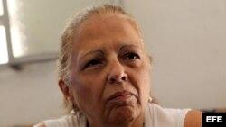 Marta Beatriz Roque ofrece conferencia de prensa el 10 de septiembre, en La Habana (Cuba) tras iniciar huelga de hambre.
