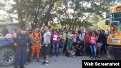 Cubanos retenidos el 30 de octubre en la frontera de Honduras con Nicaragua